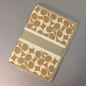 Gold COACH Passport Holder